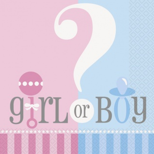20 Servietten Babyparty Junge oder Mädchen