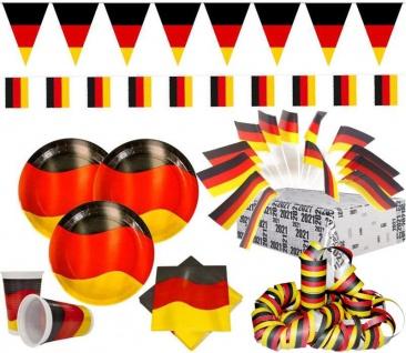 XXL 76 Teile Deutschland Party Deko Set 20 Personen