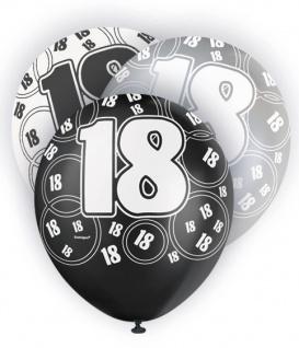 18. Geburtstag Zahlen Ballons Schwarz