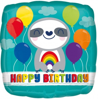 Geburtstags Folien Ballon kleines Faultier