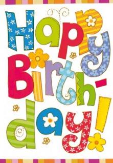 3D Sticker Glückwunschkarte Happy Birthday