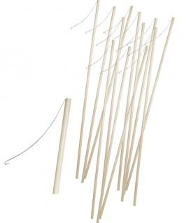 12 Stück Holz Laternenstab mit Metallhaken