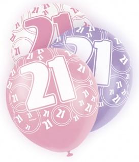 56 Teile zum 21. Geburtstag Party Set in Pink für 16 Personen - Vorschau 5