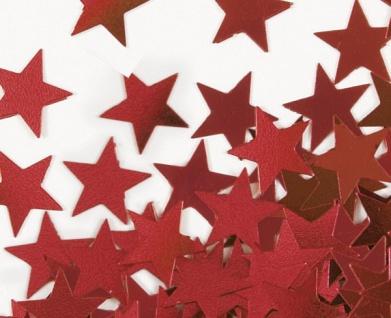 Konfetti Sterne Rot