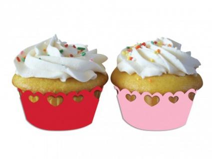 12 Muffin Wraps mit Herzchen