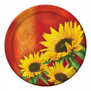 8 Teller Sonnenblume