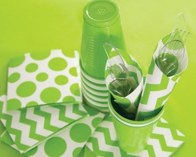 8 kleine Pappteller Limonen Grün - Vorschau 3