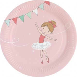 8 Ballerina Papp Teller Ballett Stunde