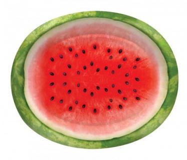 8 ovale Pappteller Wassermelone