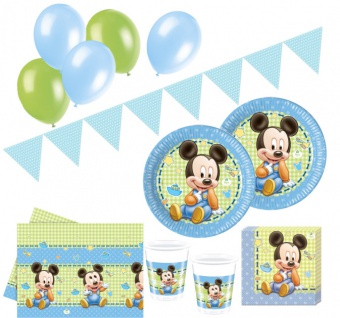 74 Teile Disney Baby Micky Party Deko Set 16 Personen