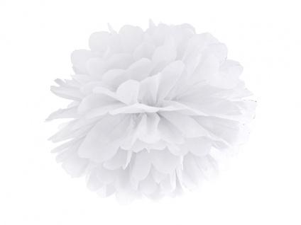 Papier Dekoball Weiß 25 cm Durchmesser PomPom - Vorschau 1