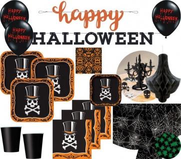 XXL Halloween Party Deko Set Voodoo Zauber Totenkopf 8 Personen