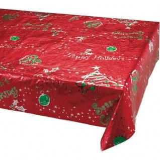 Metallic Tischdecke Weihnachten und Advent