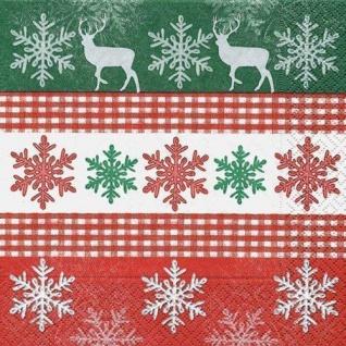 20 Weihnachts Servietten Snowflakes In A Row