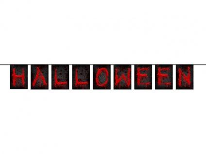 """ Blutige"" Halloween Girlande am Satinband"