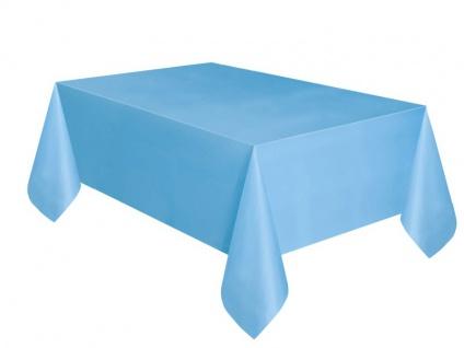 Plastik Tischdecke Hellblau