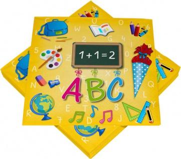 100 Servietten zum Schulanfang und Einschulung