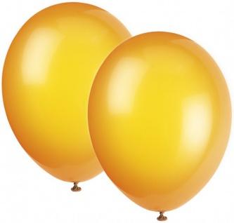 10 Luftballons Orange