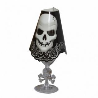 8 Totenkopf Weinglas Windlicht Schirme