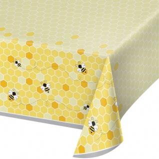 Plastik Tischdecke Bienchen