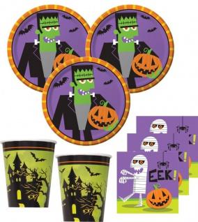 32 Teile kleines Fingerfood Halloween Deko Set Frankensteins Freunde für 8 Kinder