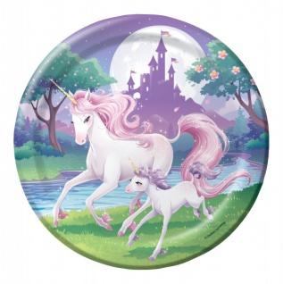 32 Teile rosa Einhorn Party Deko Set für 8 Kinder - Vorschau 2