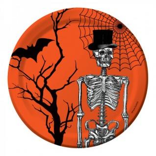 8 kleine Pappteller Halloween Kulisse