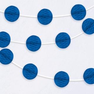 Girlande mit blauen Papier Dekobällen