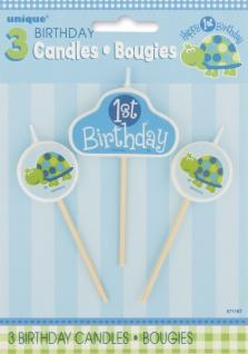 Erster Geburtstag Schildkröte Kerzen Set