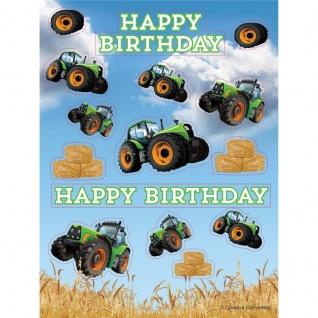 4 Sticker Bogen Traktor Party