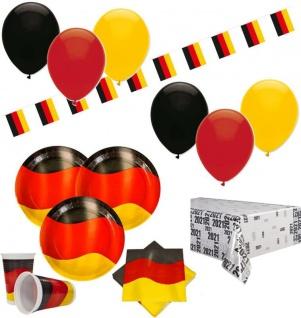XXL 72 Teile Deutschland Party Deko Set 10 Personen - Vorschau 1