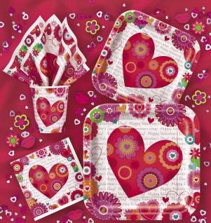 Girlande Herzchen und Blumen zum Valentins Tag - Vorschau 2