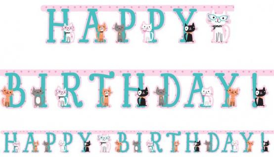 Geburtstags Girlande Purrfect Katzen Party