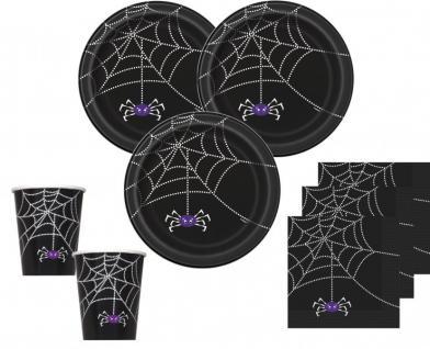 XXL 58 Teile Halloween Deko Set Spinnen Netz für 8 Personen - Vorschau 2