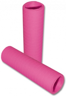 Papier Luftschlangen Pink - 1 Rolle a 20 Wurf flammensicher