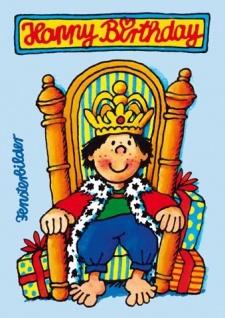 Fensterbild Postkarte König