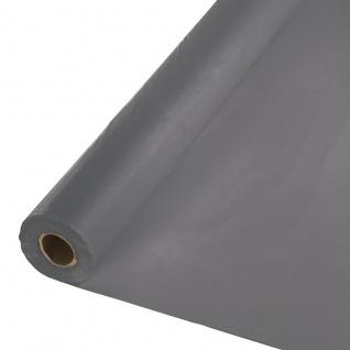 30 Meter Rolle Plastik Tischdecke Grau