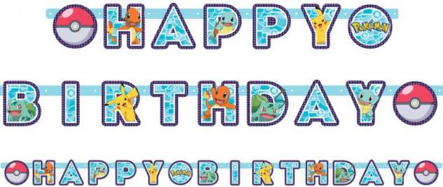 Pokemon Geburtstags Girlande