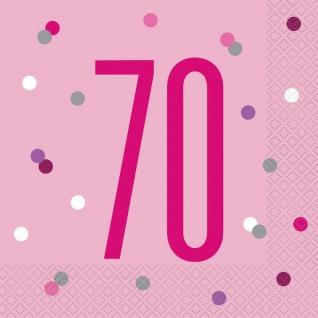 32 Teile 70. Geburtstag Pink Dots Party Set 8 Personen - Vorschau 4
