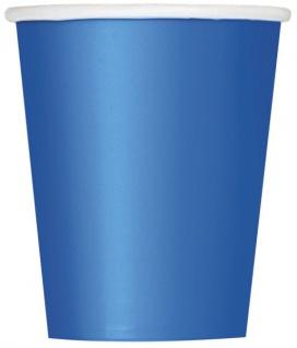 10 große Papp Becher Königs Blau