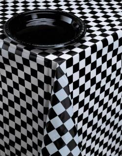 Schwarz Weiß Formel 1 Party Tischdecke