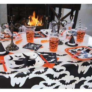 Tischdecke schwarze Hexe und Fledermaus - Vorschau 3