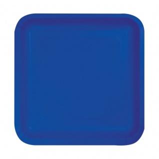 18 kleine quadratische Papp Teller Cobalt Blau