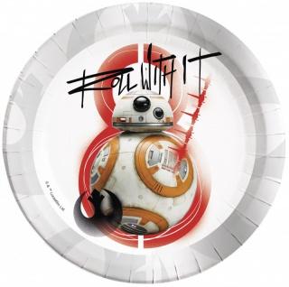 52 Teile Star Wars Episode 8 glänzend foliert Party Deko Set für 16 Personen - Vorschau 3