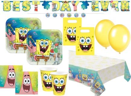 XL 52 Teile Spongebob Party Deko Set 8 Personen