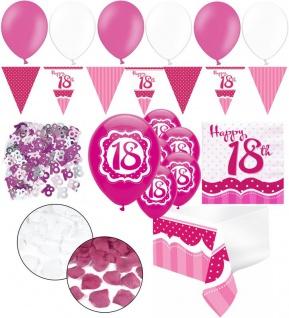 XXL 35 Teile zum 18. Geburtstag Perfectly Pink für 18 Personen - Servietten