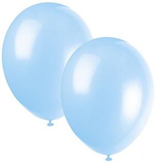 10 Luftballons Hellblau 30cm