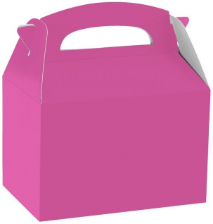 1 Stück Geschenk Box aus Karton in Pink