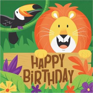 16 Geburtstags Servietten fröhliche Dschungel Party
