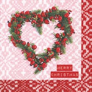 20 weihnachtliche Servietten Weihnachts Herz